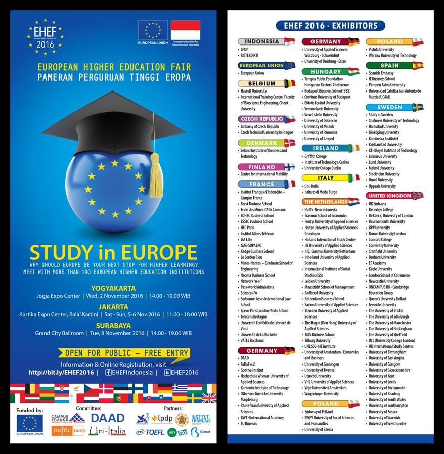 Jardine Foundation Itb Scholarship: European Higher Education Fair (EHEF) 2016
