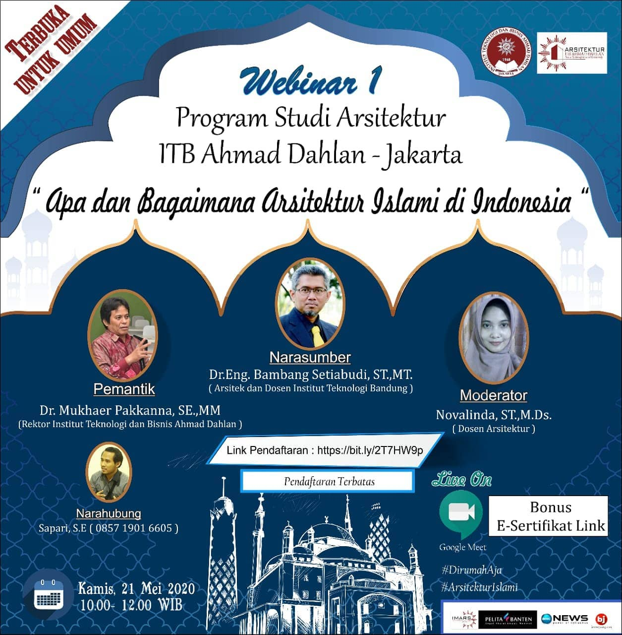"""""""Apa dan Bagaimana Arsitektur Islami di Indonesia"""" oleh Bambang Setia Budi"""