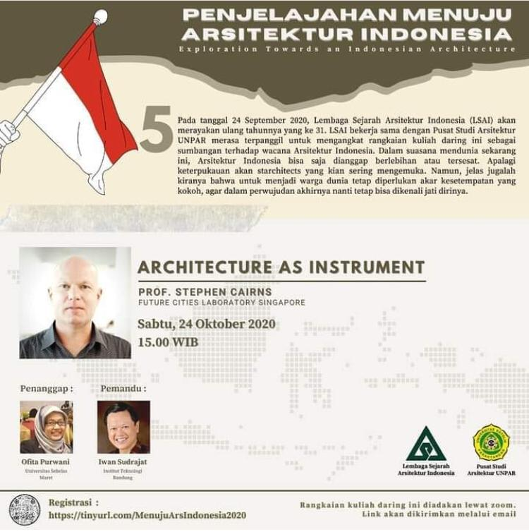 Iwan Sudradjat Menjadi Pemandu dalam Rangkaian Kuliah Daring Penjelajahan Menuju Arsitektur Indonesia