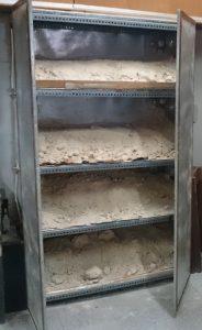 Oven unit for sand box sample preparation