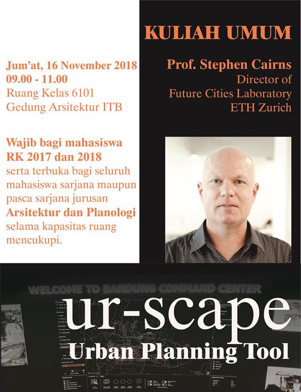 Kuliah Umum Prof. Stephen Cairns