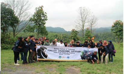 Figure 1.Photo gathering – excursion by Forestry Engineering Study Program SITH ITB