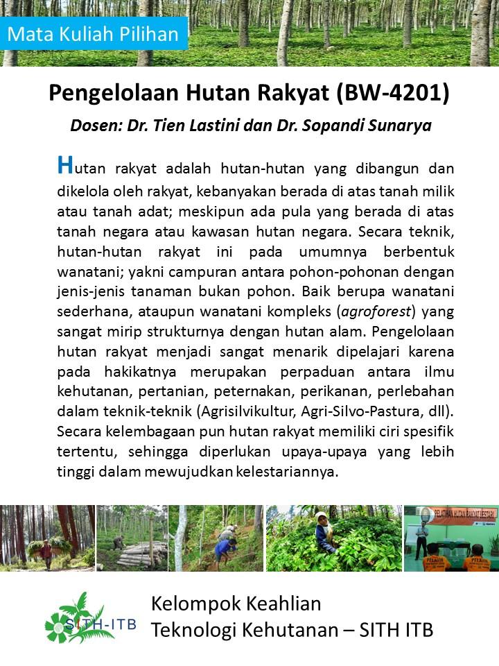 Pengelolaan Hutan Rakyat