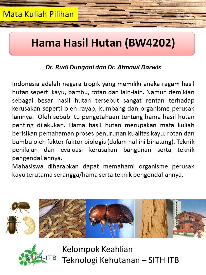 Poster Mata Kuliah Pilihan Hama Hasil Hutan Rudi D smt Genap