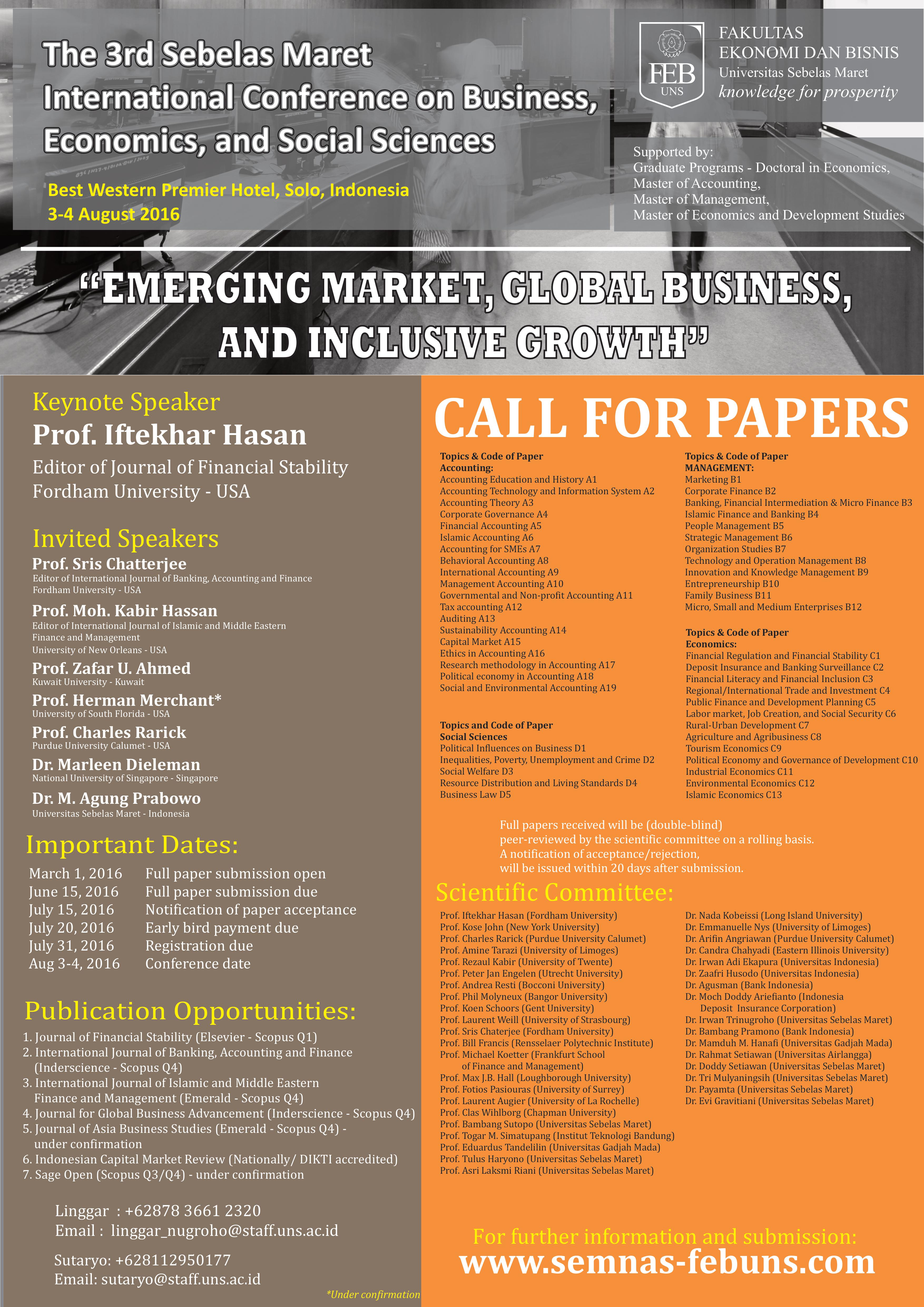 call for papers for economic conferences 2014 Concept note and call for papers  african economic conference 2015  11 the theme for the 2015 african economic conference (african economic outlook, 2014).